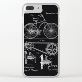Vintage Bicycle patent illustration 1890 Clear iPhone Case