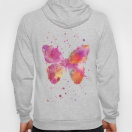 Artsy Butterfly colorful watercolor art Hoody