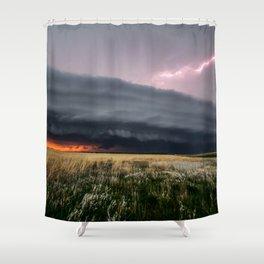 Steamroller - Storm Spans the Kansas Horizon Shower Curtain