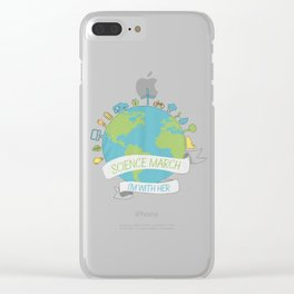 Science march - I'm with her Clear iPhone Case