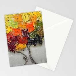 Paint Swatch Stencil Tree Stationery Cards