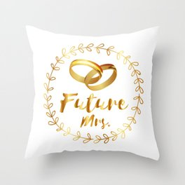Bachelorette Party Future Mrs. Throw Pillow