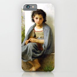 """William-Adolphe Bouguereau """"The Little Knitter"""" iPhone Case"""