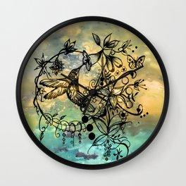 Abstract Painting HUMMINGBIRD V Wall Clock