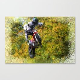 Extreme Biker - Dirt Bike Rider Canvas Print