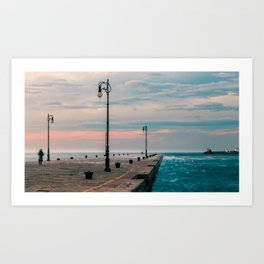 Windy day in the city of Trieste Art Print