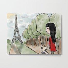 Paris Days Out Metal Print