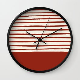 Holiday x Red Stripes Wall Clock