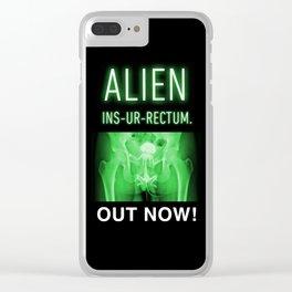ALIEN INS-UR-RECTUM. Movie Poster. Clear iPhone Case