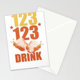 123 123 DRINK RACERBACK TANK Stationery Cards