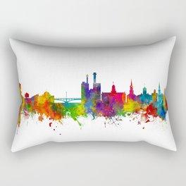 Iowa City Iowa Skyline Rectangular Pillow