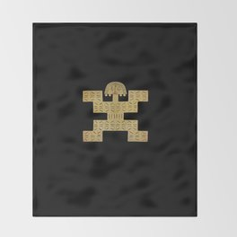 Pectoral Pre-Columbian Gold Piece Throw Blanket