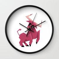 taurus Wall Clocks featuring Taurus! by Yetiland