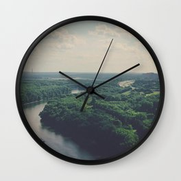 Flying Above St. Paul Wall Clock