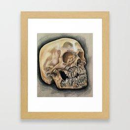 Skull Color Pencil  Framed Art Print