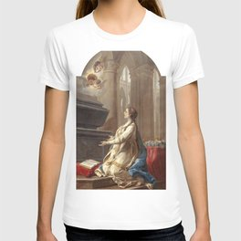 Charles-Andre van Loo - Sainte Clotilde en prire au pied du tombeau de saint Martin T-shirt