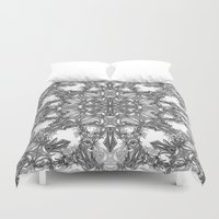 snowflake Duvet Covers featuring Snowflake   by ArtLovePassion