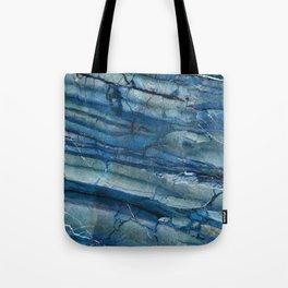 Ocean Depths Blue Marble Tote Bag