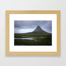 Kirkjufell in the rain - Iceland Framed Art Print