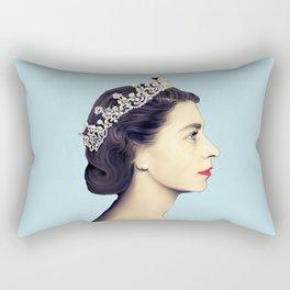 QUEEN ELIZABETH II - THE YOUNG QUEEN IN PROFILE Rectangular Pillow