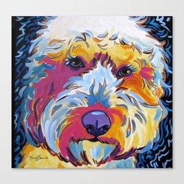 Goldendoodle or Labradoodle Pop Art Dog Portrait Canvas Print