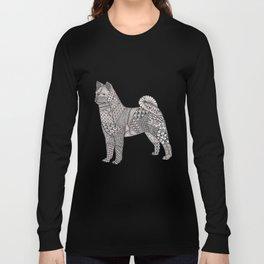 Tangled Akita Dog Long Sleeve T-shirt