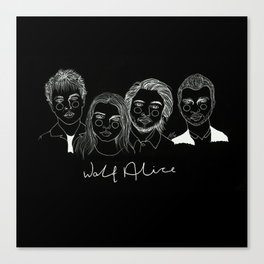 Wolf Alice (Inverted) Canvas Print