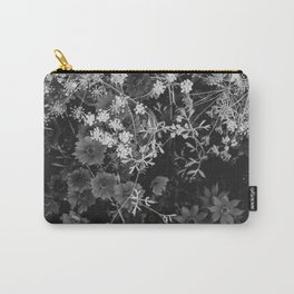 The Flowers (Black and White) Carry-All Pouch