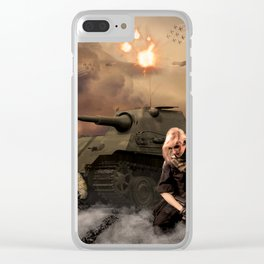 War Never is Good Clear iPhone Case