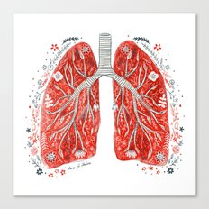 folky lungs Canvas Print
