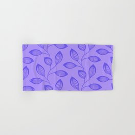 Climbing Leaves In Blue On Cold Lilac Hand & Bath Towel