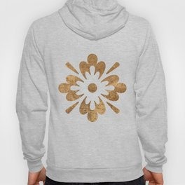 Abstract gold paper Hoody
