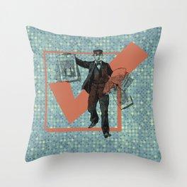 Extra! Throw Pillow