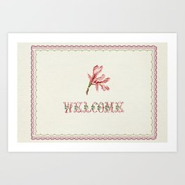 welcome - Vintage By Totalia Art Print