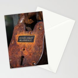 Rusty Lock Stationery Cards