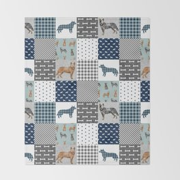 Australian Cattle Dog cheater quilt pattern dog lovers by pet friendly Throw Blanket