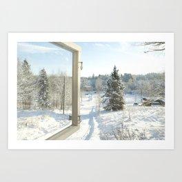 Finland in the winter #3 - Fiskars Artist Village Art Print