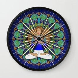 Divine Spark Mandala Wall Clock