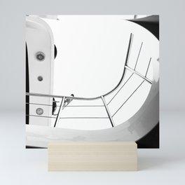 Yacht. Black & White Photography. Mini Art Print