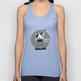 Black and White Unisex Tank Top
