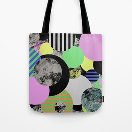 Cluttered Circles - Abstract, Geometric, Pop Art Style Tote Bag