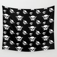 boys Wall Tapestries featuring Skull Boys  by Celeste Sheffey of Khoncepts