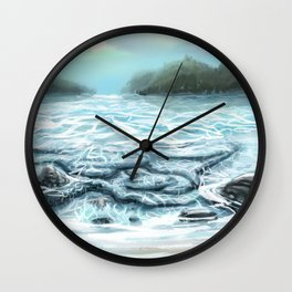 Clear Water in the Mountains Wall Clock