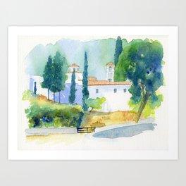 Greek monastery Art Print