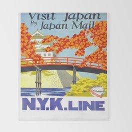 Vintage poster - Japan Throw Blanket