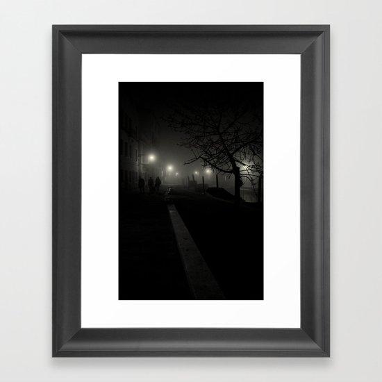 Dark night in Venice Framed Art Print