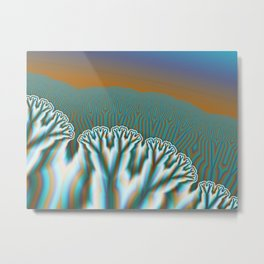 Fractal Forest Abstract Art Metal Print