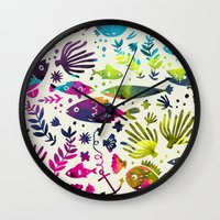 under the sea Wall Clocks featuring Under The Sea by 83 Oranges™