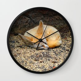 Time to Sleep Little Fennec Fox Wall Clock