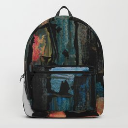Bejewelled Modern Abstract Cubism Backpack